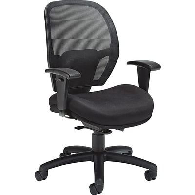Offices To Go® Weight Sensing Task Chair, Mesh, Black, Seat: 21W x 17D, Back: 22H x 19 1/2W