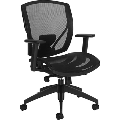 Offices To Go® Synchro-Tilter Task Chair, Mesh, Black, Seat: 20Wx18 1/2D, Back: 20 1/2Hx19 1/2W