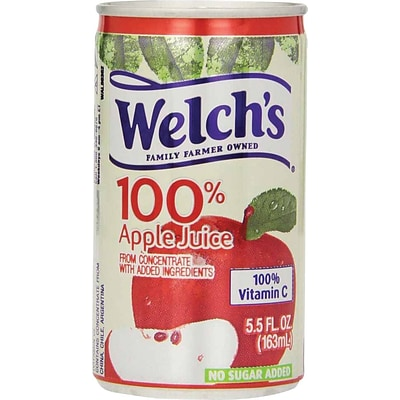 Welchs 100% Apple Juice 5.5 oz. Cans, 48/Case