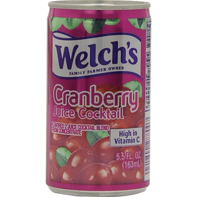 Welchs Cranberry Cocktail 5.5 oz. Cans, 48/Case