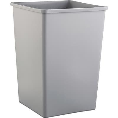 Rubbermaid® Untouchable® Waste Containers, Fits Untouchable Top 2664, Gray, 35 gallon