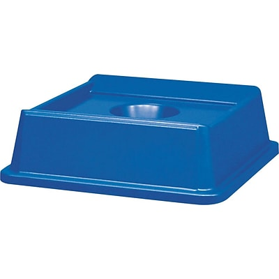 Rubbermaid® Untouchable® Waste Container Lids, Bottle & Can Recycling Top, Dark Blue