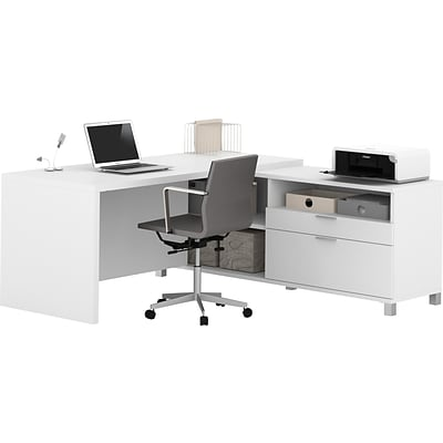 Bestar® Pro-Linea L-Desk in White