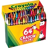 Crayola Crayons with Sharpener, 64 Crayons/Box (52-0064)