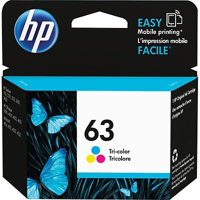 HP 63 Tri-Color Standard Yield Ink Cartridge (F6U61AN)