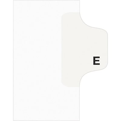 Avery Style Individual Legal Divider, Tab E, 8.5 x 11, White, 25/Set (01405)