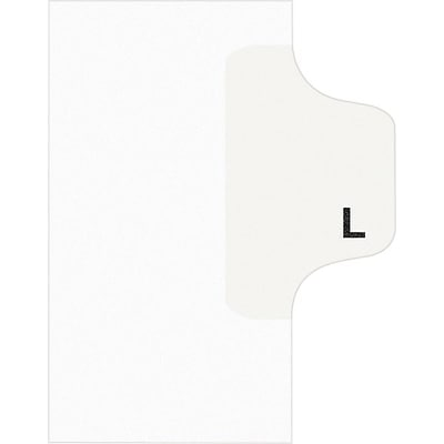 Avery® Individual Legal Dividers Avery® Style 1412, Letter Size, Tab L
