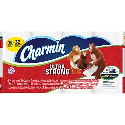 Charmin® Ultra Strong 2-Ply Toilet Paper 154 Sheets 16 Double Rolls (91188/PGC 86506)