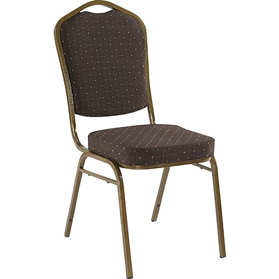Iceberg® Banquet Chairs with Crown Back, Black/Gold, 4/Carton