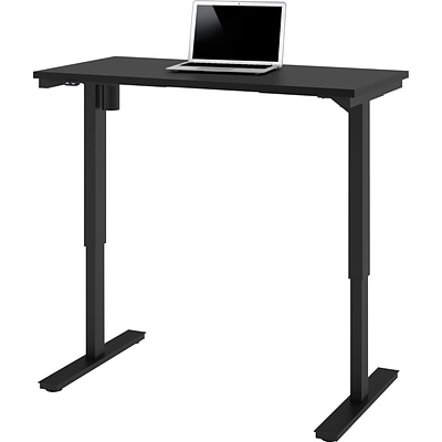 Bestar® 24 x 48 Electric Height Adjustable Table, Black