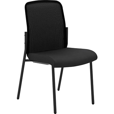 basyx by HON® VL508 Multi-Purpose Stacking Chair, Mesh/Fabric, Black, Seat: 19W x 19D, Back: 19W x 18H