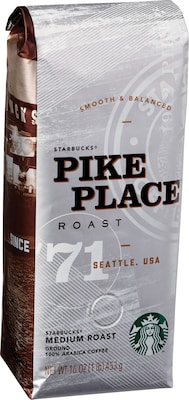 Starbucks® Pike Place® Ground Coffee, Medium Roast, 1 lb. Bag (SBK11018186)