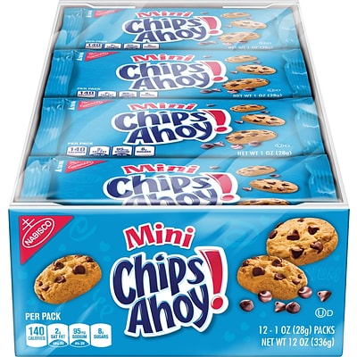 Chips Ahoy!® Mini Size Cookies, 1oz, 12 count