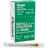 Pentel Eraser Refills Tube Of 4