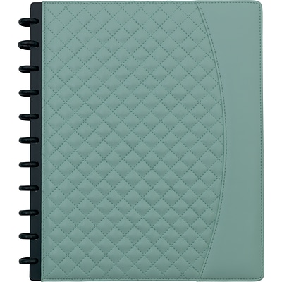 Arc System Customizable Quilted PU Leather Notebook System, Mint, 9-1/2 x 11-1/2, 60 Sheets