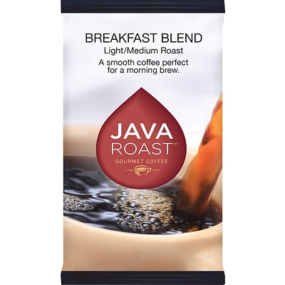 Java Roast Gourmet Breakfast Blend Ground Coffee with Filters; Regular, 1.75 oz., 42 Packets