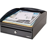 Steelmaster Lockit Desktop Inbox - 2 x Key - 6 Height x 11 Width x 14.1 Depth - Desktop - Recycle