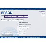 Epson Premium Photo Paper, 68 lbs., High-Gloss, 11 x 17, 20 Sheets/Pack
