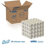 Scott® 100% Recycled Fiber Toilet Paper Rolls, 2-PLY Standard Size, 506 Sheets/Roll, 80 Rolls/Case (