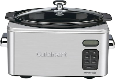 Cuisinart(r) 6.5 Qt. Stainless Steel Programmable Slow Cooker