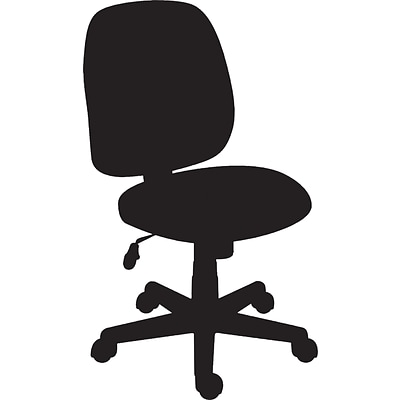 Quill Brand® Haydn Luxura Mid-Back Task Chair Without Arms, Black