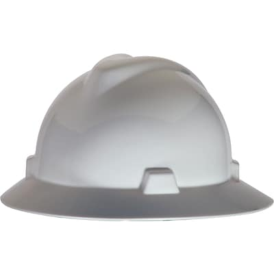 MSA Safety® Non-Slotted Protective Caps and Hats, Polyethylene, Standard, Staz-On, Hat, White