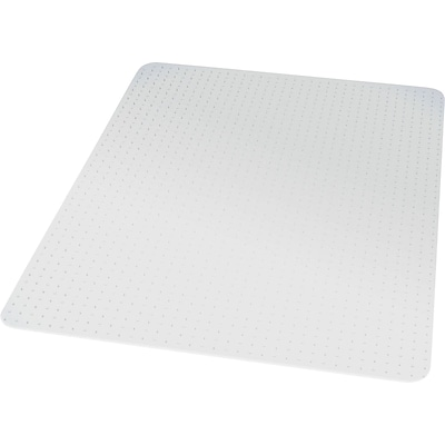 Quill Brand® Chairmat, For Low Pile Carpets, No Lip, Rectangular, 36 x 48