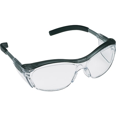 3M Occupational Health & Env Safety Glasses, Gray/Black