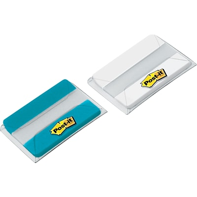 Post-it® 2 Aqua & White Durable Tabs, 44 Tabs/Pack