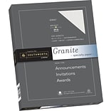 Southworth Granite Specialty Paper, 8.5 x 11, 24 lb., Smooth Finish, Gray, 100 Sheets/Box (P914CK)