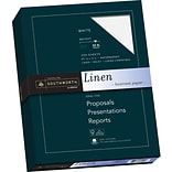 Southworth 25% Cotton Business Paper, 8.5 x 11, 32 lb. Linen Finish, White, 250 Sheets/Pack (J558C)