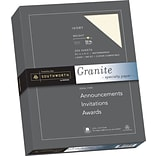 SOUTHWORTH Granite Specialty Paper, 8 1/2 x 11, 32 lb., Granite Finish, Ivory, 250/Box