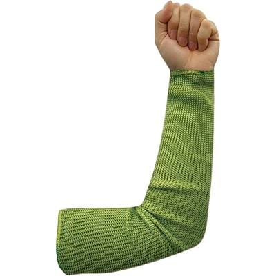 Wells Lamont Green & Yellow Cut Resistant Each Heavyweight Sleeve With Thumb Hole