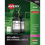2 x 2 GHS Chemical Labels 60506