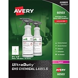 3-1/2 x 5 GHS Chemical Labels 60503