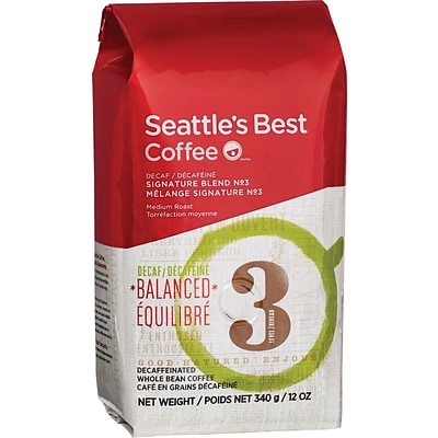 Seattles Best Coffee® Level 3 Whole Bean Coffee, Decaffeinated, 12 oz. Bag