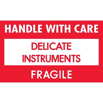 Tape Logic Delicate Instruments - HWC Shipping Label, 3 x 5, 500/Roll