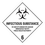 4x4 Infectious Substance-6 Shipping Label