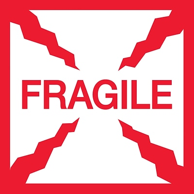Fragile Handle With Care 4 x 4