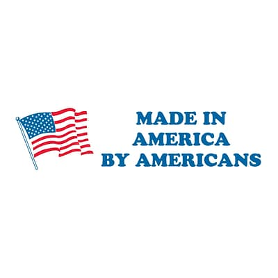 Tape Logic® Labels, Made in America by Americans, 2 x 6, Red/White/Blue, 500/Roll