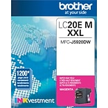 Brother Genuine LC20EM Magenta Super High Yield Original Ink Cartridge