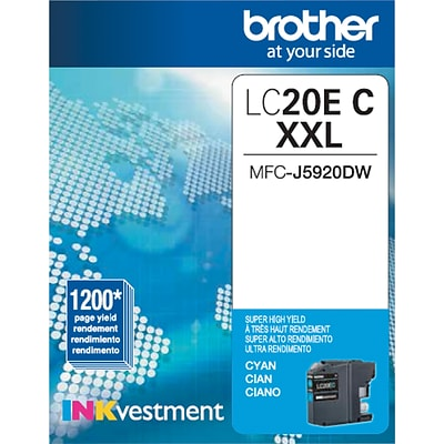Brother Genuine LC20EC Cyan Super High Yield Original Ink Cartridge