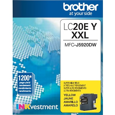 Brother Genuine LC20EY Yellow Super High Yield Original Ink Cartridge