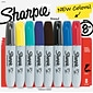 Sharpie Permanent Marker, 5.3mm Chisel Tip, Assorted Fashion, 8/Pk