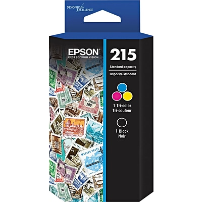 Epson® 215 Black and Color C/M/Y Ink Cartridge Set (T215120BCS) (2 cart per pack)