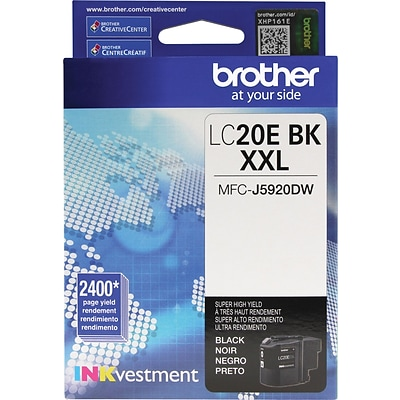 Brother LC 20 Black Ink Cartridge, Extra High Yield (LC-20EBKS)