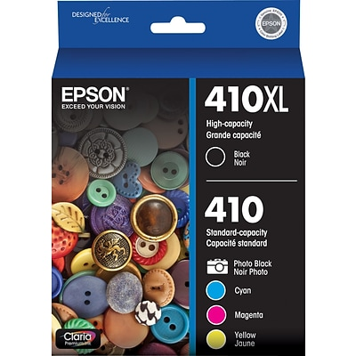 EPSON® Hi Capacity Ink T410XL-BCS, Multi-pack (5 cart per pack)