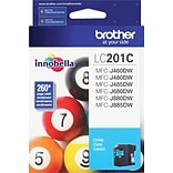 Brother LC 201 Cyan Ink Cartridge, Standard (LC201C)