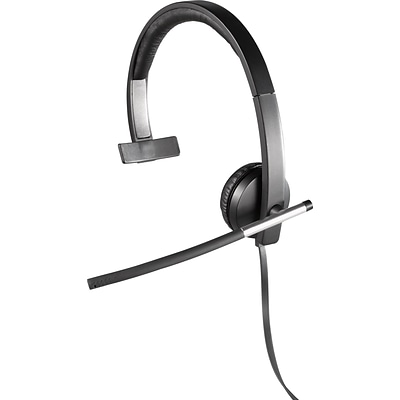 Logitech® H650e USB Mono Headset With Noise Cancelling Microphone