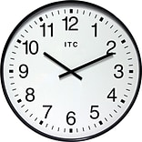 Infinity Instruments 19 Large Automatic Time Adjustment Wall Clock, Clarke